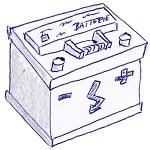 Skizze einer Autobatterie